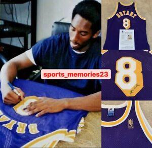 Kobe Bryant Signed Auto Jersey Purple/Away 8 - Champion Gold 50th - Beckett LOA