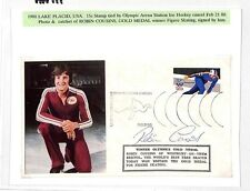 HH111 1980 OLIMPIADI Copertura firmato * Robin CUGINI * GB Oro MEDAGLIA PATTINAGGIO PTS
