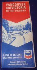 BS622 Chevron Standard Oil Co. Vancouver & Victoria B.C. Road Map Undated