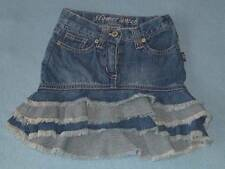 Pumpkin Patch 'Flower Patch' Girls Asymmetrical Hem 3 Tier Denim Skirt, Size 1