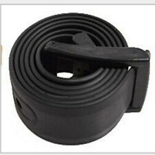 Men's Womens Plain Smooth Silicone Rubber Leather Belt Plastic Buckle