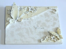 Bridal Butterfly Wedding Guest Book - Shudehill Giftware - Slightly Marked.