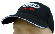 AUDI CLASSIC BASEBALL CAP BLACK HAT LOGO EMBROIDERED IN FRONT
