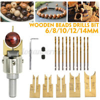 Wooden Bead Maker Beads Drill Bit Milling Cutter Set Tool Kit for Woodworking