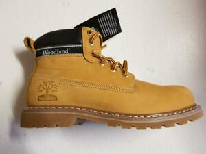 Mens M94 Woodland Goodyear Welted Sole Padded Ankle Lace-Up Boots Leather Honey
