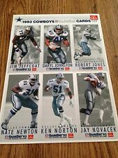 Cowboys-1993-McDonald's-Game Day Collectors Trading Cards-Sheet B 2 of 3