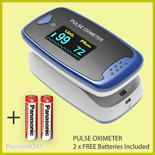 Fingertip Pulse Oximeter SpO2 Heart Rate Blood Oxygen Monitor Display UK CONTEC