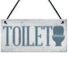 Shabby Chic Hanging Plaque Toilet Bathroom The Loo Door Wall Plaques Sign Decor