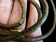 Antiguo Viejo Oeste africano auténtico Tribal Cadena de Perlas de bronce/cobre ~ II