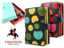 Ladies Purse Soft Leather Wallet Artisan Designer Visconti New in Gift Box P1
