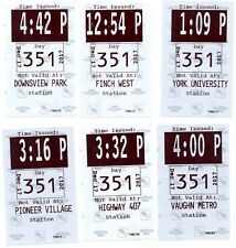 2017 Toronto Complete Set Transfers First Day Of Service TTC Subway New Stations