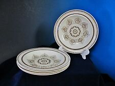 Antique Early WEDGWOOD CHESNUT Brown 5 Soup Bowls Classic Elegance