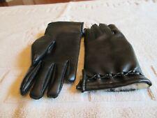 Ladies Gloves , Rabbit Fur  , Black , Misses Stretch , Fits Ages 10-12