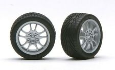 Pegasus 1282 x 1/24-1/25  Silver M5's Rims w/Tires for Import Cars (4)
