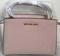 NWT MICHAEL KORS  Selma Medium Color Block Leather Messenger Crossbody Bag $228