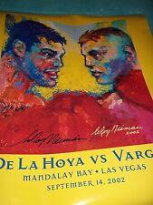 Leroy Neiman Signed Fight Poster De La Hoya vs. Vargas