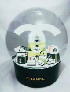 Chanel no 5 black large Electric snow globe. Rechargeable cc logo (DHL Shipping)