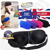 3D Soft Padded Blindfold Blackout Eye Mask Travel Sleep Aid Shade Cover UK