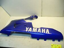 YAMAHA 98 99 00 01 YZFR1 R1 1000 LEFT SIDE LOWER FAIRING COWL PLASTIC BLUE