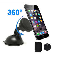 Universal 360° Auto Magnet Suction Car Windshield Mount Holder For Mobile Phone