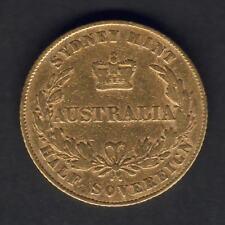Australia.  1861 Sydney Mint - Half Sovereign..  aFine - Trace Lustre