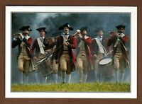 """Colonial Williamsburg Greeting Card Fife & Drum Corp 6"""" Vintage 1999 Note Blank"""