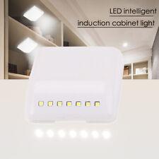 7 LED Wireless Induction Closet Light Sensor Lamp Under Cabinet Wardrobe AAA