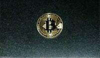 Gold Bitcoin Coin (Collectible Medallion) Gold Plated 24K 1oz.