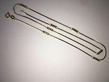 Rare Italian Designer 14K Gold Chain Necklace