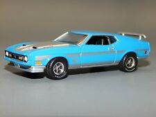 1971 71 Ford Mustang MACH 1 351 Ram Air Grabber Blue & Silver 1/64 Diorama VHTF