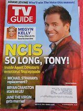 TV GUIDE MAGAZINE MAY 2016 NCIS MICHAEL WEATHERLY BRYAN CRANSTON ADAM LEVINE