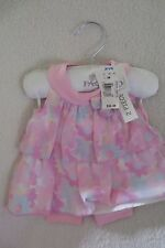 FAO Baby Girl Infant Outfit 2 Pieces Set  Size 3 Months Floral Pink Cute  New