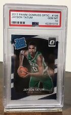2017-18 JAYSON TATUM CELTICS PANINI DONRUSS OPTIC RATED ROOKIE #198 PSA 10 RC