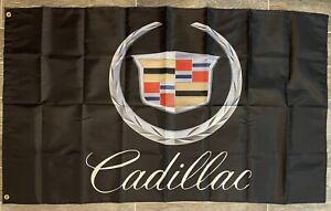Cadillac Logo 3X5 Garage Wall Banner Flag FREE SHIPPING CT6 CTS XT Escalade