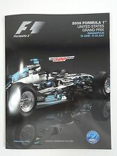 2006 Formula-1 United States Grand Prix Program F-1 Michael Schumacher Ferrari