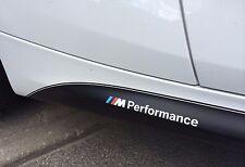 2x BMW M Performance seiten schweller aufkleber sticker logo F10 F20 F30 E70 E60