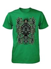 BNWT SPIRAL PATTERNED SKULL GOTH HORROR UNDEAD QUALITY PRINT ADULT T SHIRT S-XXL