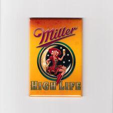 MILLER HIGH LIFE - MINI POSTER FRIDGE MAGNET (classic vintage beer label sign)