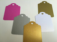 Gift tag embellishments create your own tags metallic gold silver pink or copper