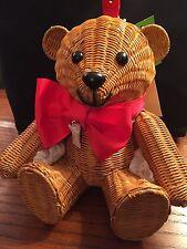 Kate Spade Wicker TEDDY BEAR handbag LTD EDITION,NWT, KEEPSAKE Bear! RARE