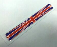 UNION JACK FLAG STICKER Long Slim Red, White & Blue HIGH GLOSS DOMED GEL FINISH