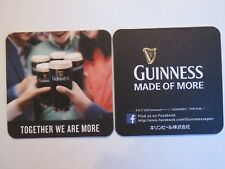 Irish Beer Coaster: GUINNESS Brewing Stout ~ Made of More, Together We Are More
