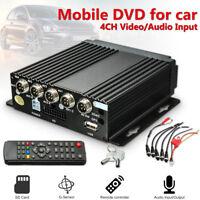 Mini 4CH AHD DVR Car Vehicle Mobile Realtime Video/Audio Recorder SD Card