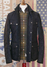 £165 Mens Barbour International Ariel Quilted black jacket size Medium Small 36
