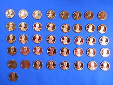 1968-S to 2008-S Gem Cameo Proof Lincoln Memorial Cent Penny Set Compl 41 Coins