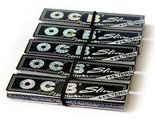 5 booklets OCB PREMIUM SLIM Rolling paper King Size + FILTER TIPS