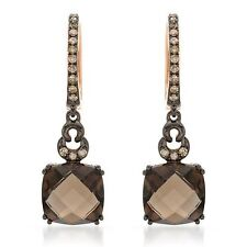 Gorgeous Earrings 4.61ctw Diamonds and Topazes in 14K Two tone Gold $3,630.00