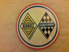 Sticker decal autocollant  Renault Compétition R8 Gordini Alpine