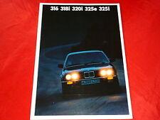 BMW 3er E30 316 318i 320i 325e 325i Prospekt von 1987