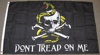 3X5 DON'T TREAD ON ME PIRATE FLAG SKULL COILED SNAKE CROSS BONES NEW F105